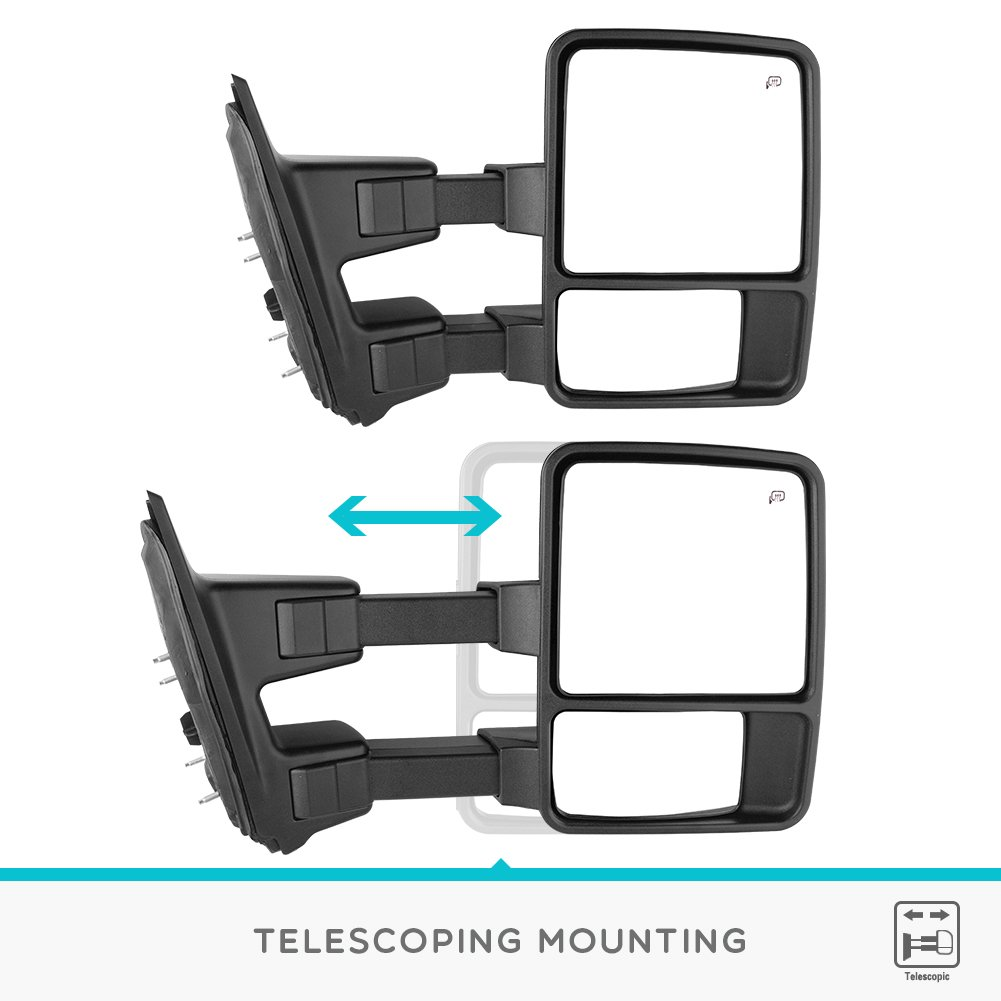 Yitamotor Towing Mirrors For Ford 1999 2007 F250 2008 F 250 Mirror Wiring Diagram F350 F450 F550 Super Duty Tow Power Heated With Turn Signal Light Side
