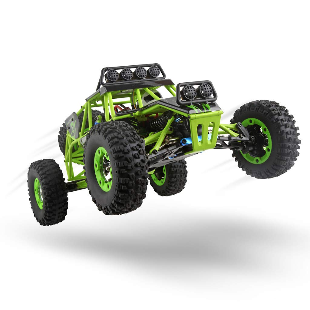 ASfairy RC Car 1:12 Scale 4WD High Speed 50km/h Off -Road/Rock Climbing Buggy Car 2.4Ghz Electric with LED Light/Waterproof/Shockproof Boys' Suprise Gift by ASfairy (Image #5)