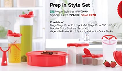 Buy Hooriyas Tupperware 273 Prep In Style Set Online At Low Prices In India Amazon In