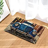 GoHeBe Car Decor Old School Beatle Car Bath Rugs Non-Slip Doormat Floor Entryways Indoor Front Door Mat Kids Bath Mat 15.7x23.6in Bathroom Accessories