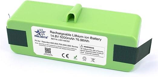 melasta batería de iones de litio de 14.8v 5200mAh de larga ...