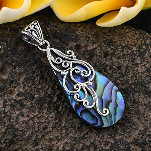 Pendant 925 Sterling Silver Abalone Shell Boho Handmade Fashion Jewelry for Women 2