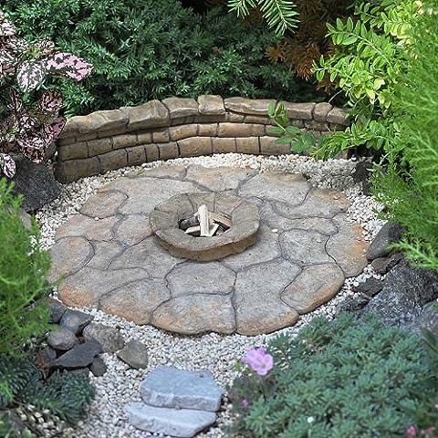 Miniature Fairy Garden Patio Pad, Fire Pit (Paver Fire Pit)