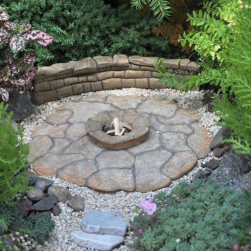 Miniature Fairy Garden Patio Pad, Fire Pit by Wholesale Fairy Garden