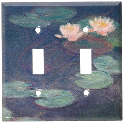 Art Plates - Monet: Water Lilies (Close-Up) Switch Plate - Double Toggle ()