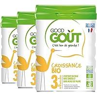 Good Goût - BIO - Lait de Croissance 3ème âge dès 10 Mois 800 g - Lot de 3