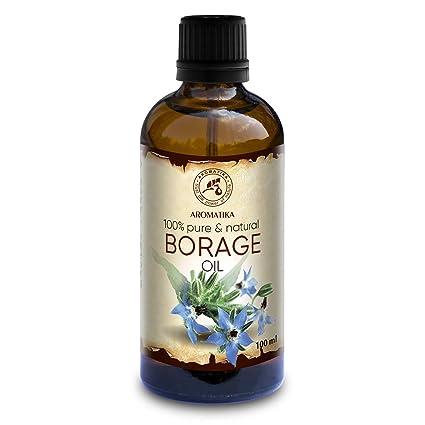 Aceite de Semilla de Borraja 100ml - Borago Officinalis Seed Oil - 100% Puro y