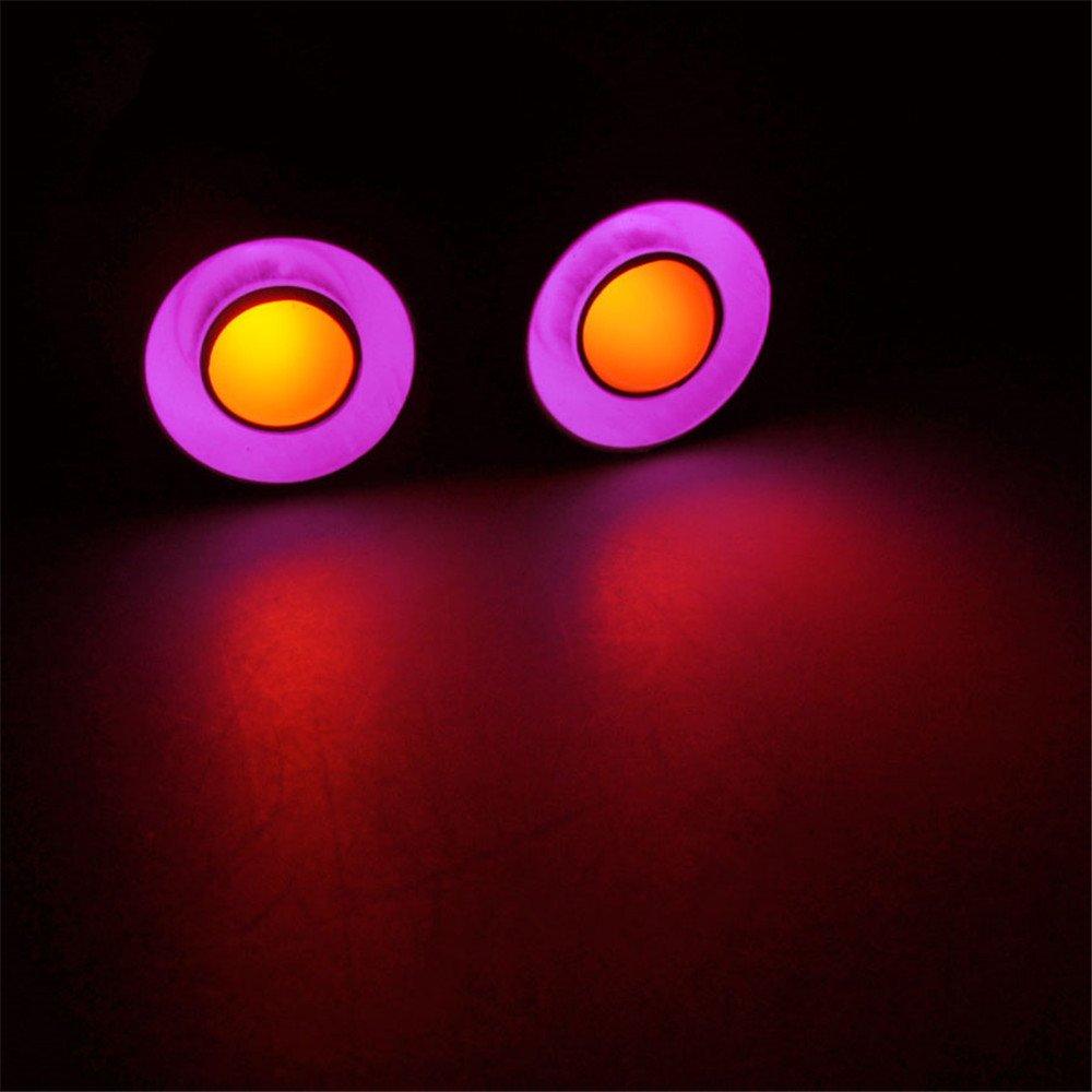 bleu+blanc 1 Set 17mm 2 Leds Angel Eyes LED feux de voiture Headlight Phare arri/ère pour 1//10 Echelle RC Crawler Voiture