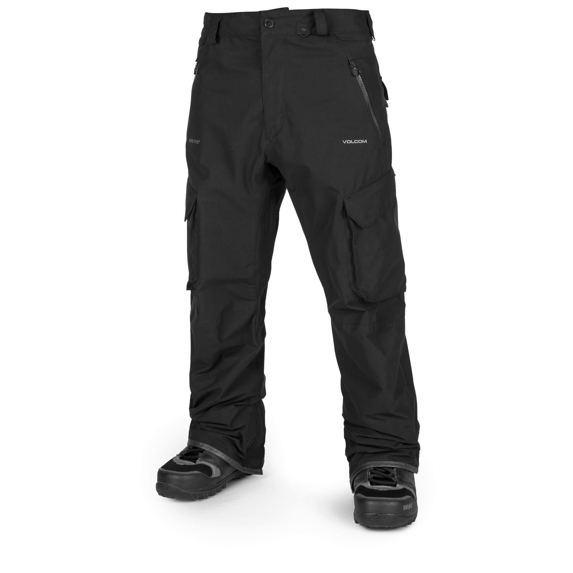 Volcom Men's Lo Gore-Tex Articulated Snow Pant, Black Large
