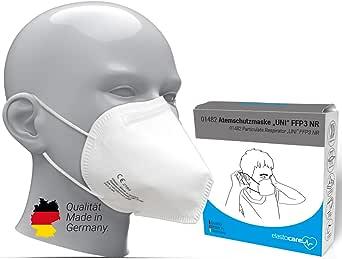FFP3 adembeschermingsmasker, gecertificeerd in Duitsland, FFP3-masker, stofmasker, ademmasker, stofmasker, 10 stuks, verpakt in opbergdoos en hygiënische PE-zakjes