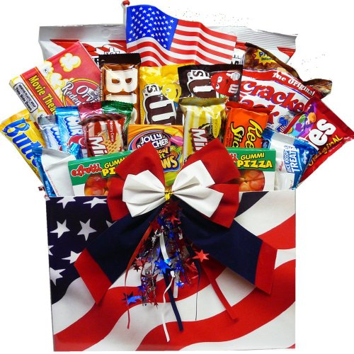 All American Snacker Gift Box of Candy and Junk Food Treats (Chocolate Option)