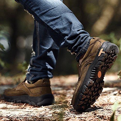 Miyoopark UK-XCR9887A, Herren Mokkasins dunkles kaki