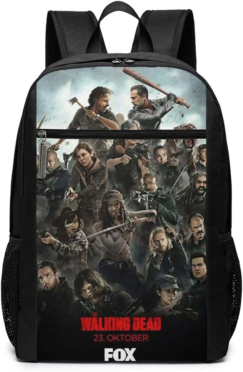 Qmad Girlâ€s The Walking Dead Poster Super Heavy And Heavy Durable Full Printing Backpack For Training Courses