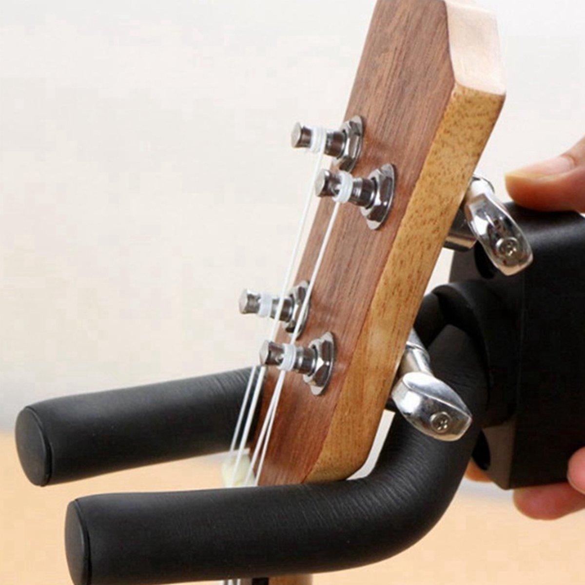 2 piezas Instrumentos Musicales Soporte de pared guitarra soporte ...