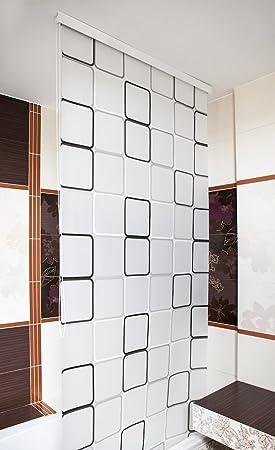 demi-caisson douche volet roulant 100 cm large modèle QUADRO rideau de  douche grise blanche noir