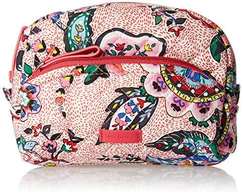 Vera Bradley Iconic Mini Cosmetic, Signature Cotton, Stitched Flower ()