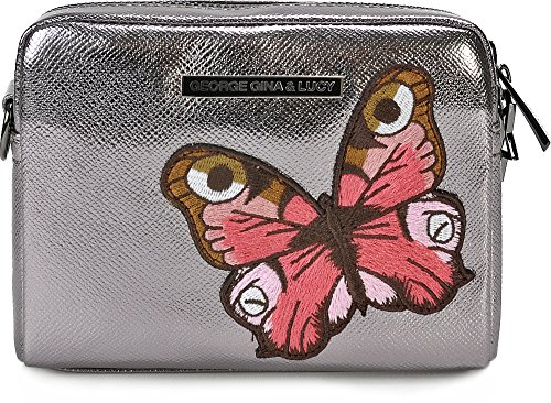 George Gina & Lucy Crossed Nylon Bag For Woman Metallic Green Metallic Gray One Size Fits All