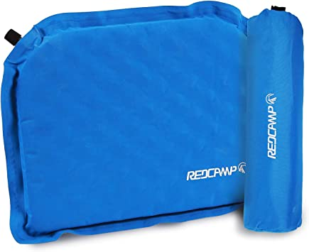 Inflatable Seat Cushion >> Redcamp Self Inflatable Seat Cushion For Camping Stadium Compact Lightweight Self Inflating Bleacher Cushion With Storage Bag Well Insulated