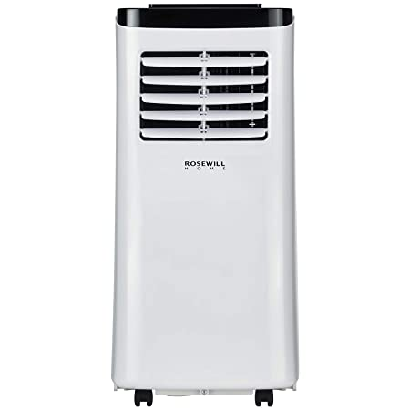 Rosewill Portable Air Conditioner 8000 BTU, AC Fan Dehumidifier 3-in-1 Cool Fan Dehumidify w Remote Control, Quiet Energy Efficient Self Evaporation AC Unit for Single Room Use, RHPA-18001