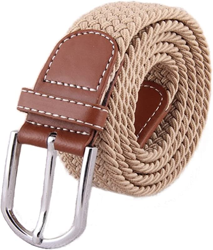 KINDOYO Mens Elastic Fabric Woven Stretch Belt Many Colours Available