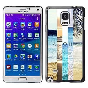 YOYOYO Smartphone Protección Defender Duro Negro Funda Imagen Diseño Carcasa Tapa Case Skin Cover Para Samsung Galaxy Note 4 SM-N910F SM-N910K SM-N910C SM-N910W8 SM-N910U SM-N910 - campo de verano naturaleza trullo melocotón sol