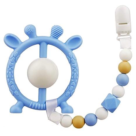 Juguetes para la Dentición del bebé, Silicona Libre de BPA Bebés ...