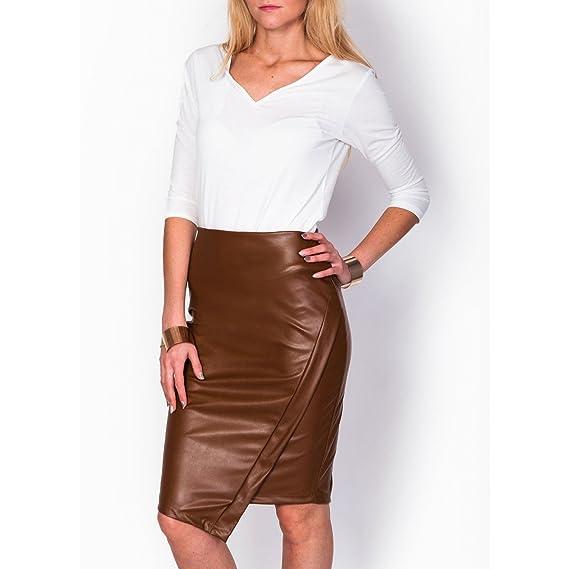 so simply - Falda - Estuche - para Mujer Marrón marrón 40-42 ...