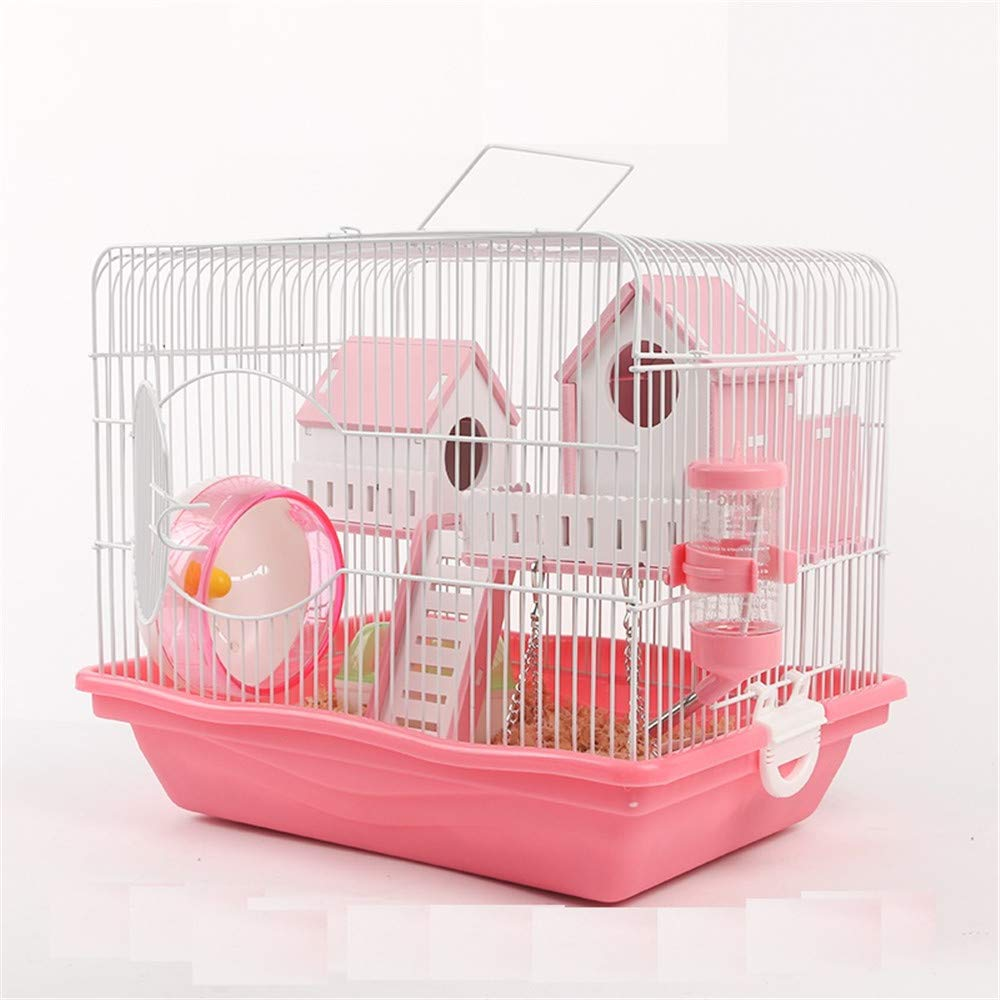 DRKJ Hamster Cage Supplies Foundation Cage Villa Hamster Cage Double Layer