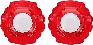 Yardwe 2PCS Grater Finger Protector Mandolin Slicer Grater Food Safety Holder Food Slicers Cutter Finger Guard for Mandoline Slicer Grater Cutting Red