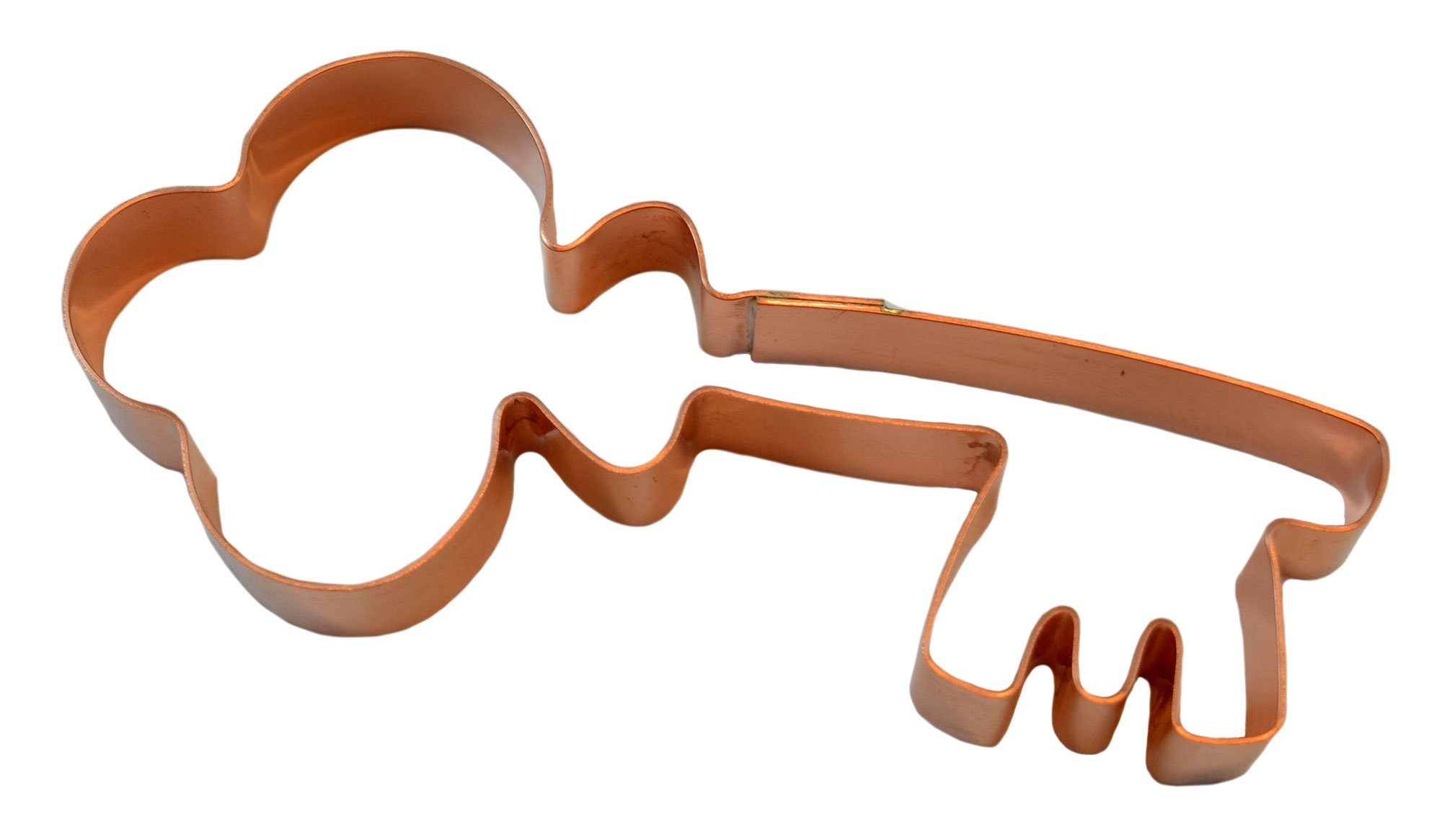 Fancy Old Fashioned Skeleton Key Copper Cookie Cutter