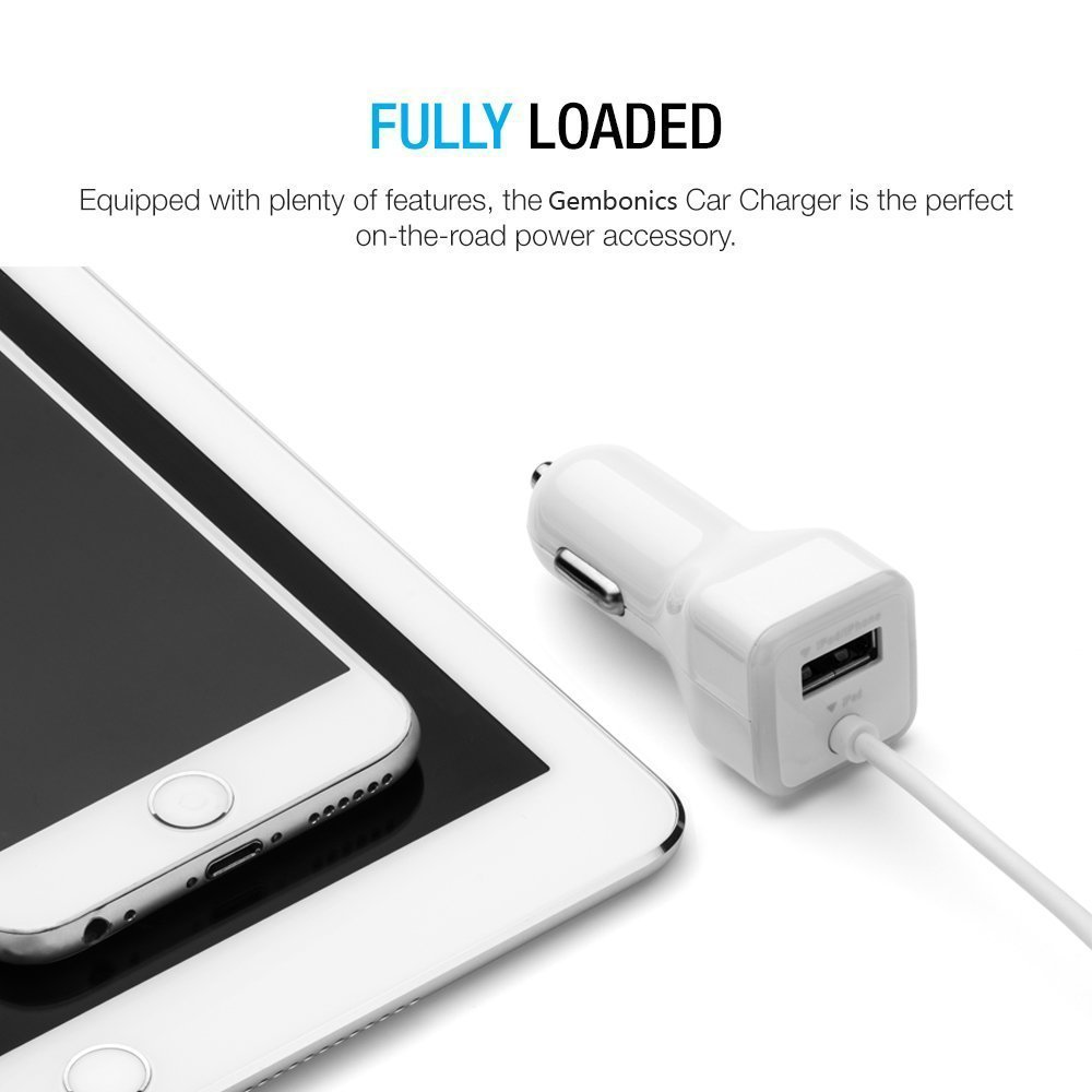 XR Mini 4 with Extra USB Port White 6 Plus XS 8 Plus Apple Certified iPhone Lightning Car Charger for iPhone X 8 SE Air 2 iPad Pro 5S 7 Plus 6S // 6S Plus 7