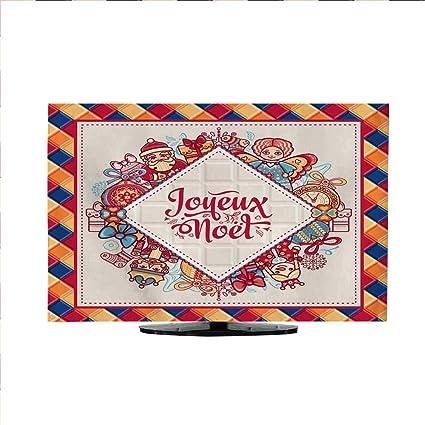 Joyeux Noel Audio.Amazon Com Tv Curtain Cover French Merry Christmas Joyeux