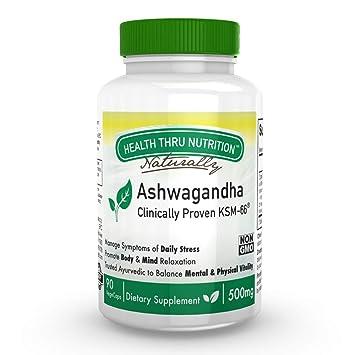 Amazon com: Ashwagandha 500mg Pure KSM66 90 vegecaps High