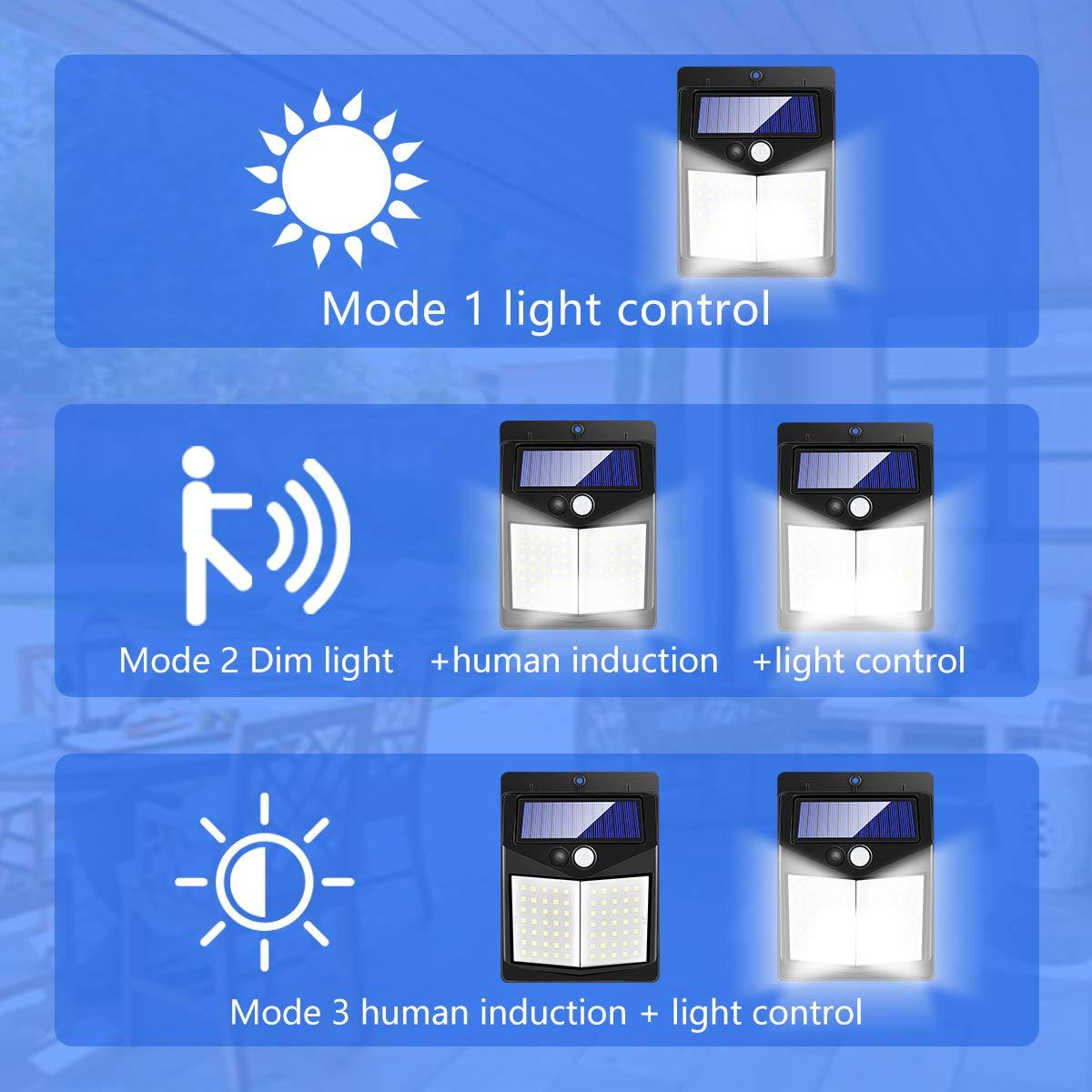 1800mAh Solarleuchte f/ür Au/ßen Priksia 70 LED Solarlampe Superhelle Solarleuchte Garten mit Bewegungsmelder Sicherheitswandleuchte Wandleuchte 3 Modi Wasserdichte Solarleuchten Garten