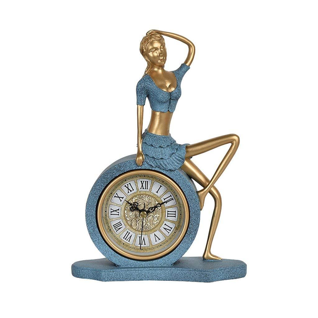 デスククロックファミリークロックヴィンテージ装飾デコレーションテーブルクロック子供の部屋のデスクトップの時計リビングルームの工芸家具4 'ブルーリビングルームの寝室のオフィスに適して B07TGGZ1RR