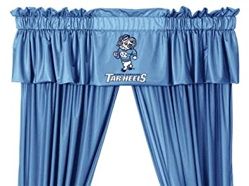 North Carolina Tarheels UNC Window Treatments Valance And Drapes 63 Inch Set