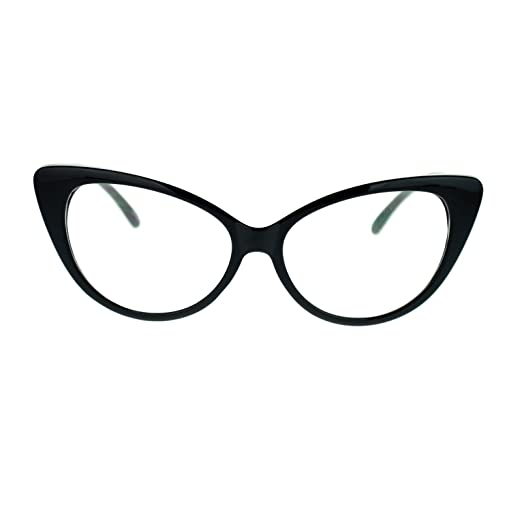 3b09273fa3a Amazon.com  Womens Goth Mod Chic Classic Retro Cat Eye Optical ...