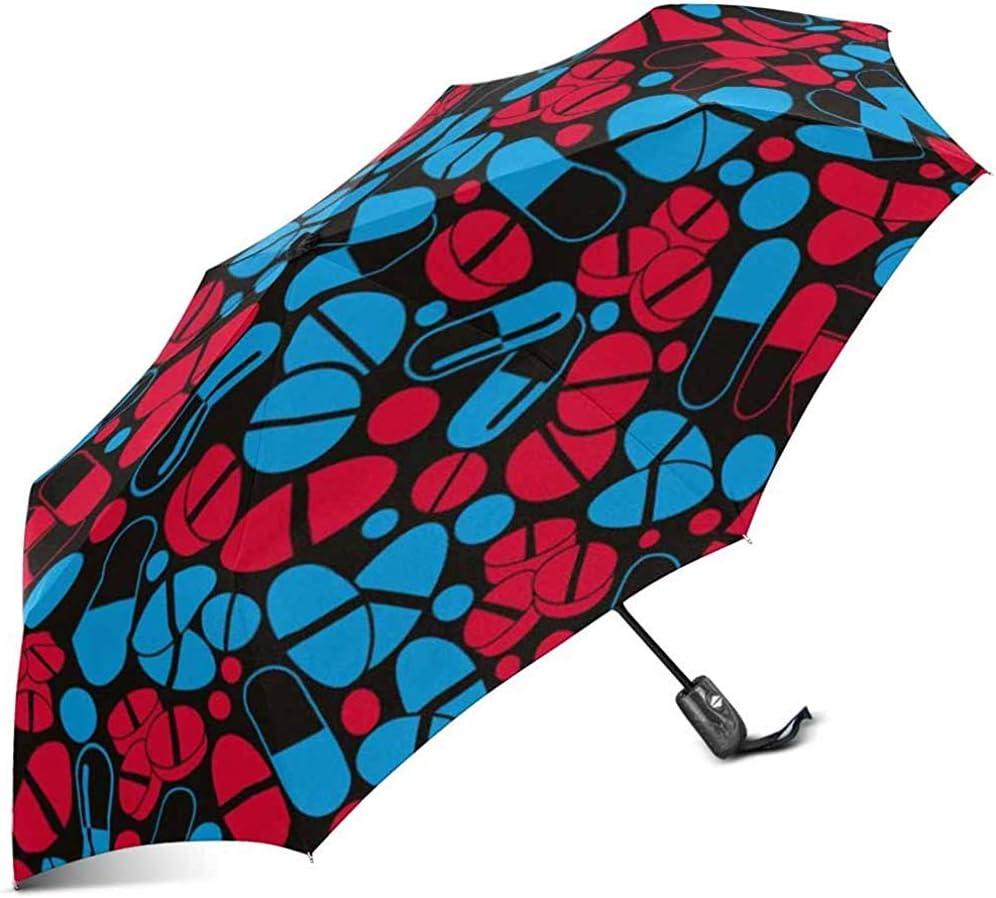 Paraguas médico Brillante del Viaje del Paraguas Plegable a Prueba de Viento automático