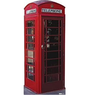 Superb English Phone Booth   Advanced Graphics Life Size Cardboard Standup