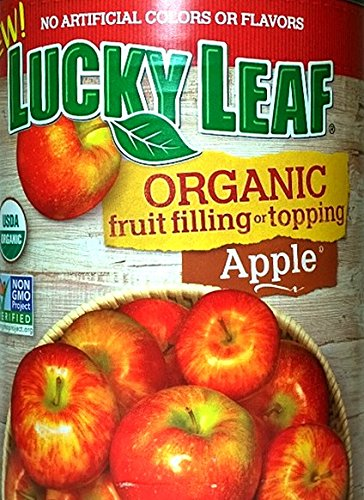 Lucky Leaf Organic Apple Fruit Filling & Topping (Pack of 2) 21 oz Cans
