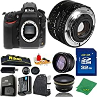 Great Value Bundle for D810 DSLR – 50MM 1.8D + 32GB Memory + Wide Angle + Telephoto Lens + Backpack