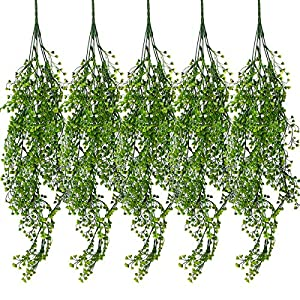 Dreampark Artificial Greenery Garland,Fake Ivy Vines Foliage Plants with Leaves Hanging for Wedding Home Garden 10