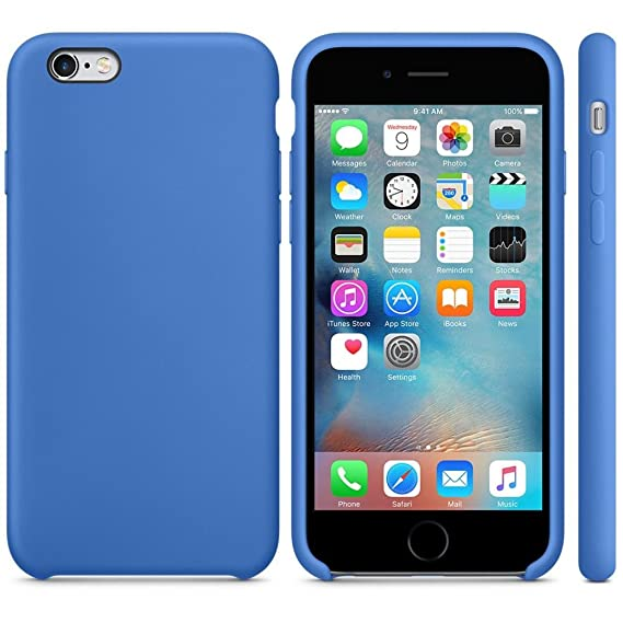 eeb7bb4c94616 Keklle Ultra-Thin Silicone Case Cover Skin for iPhone 6S Plus & 6 Plus  5.5inch (Blue)