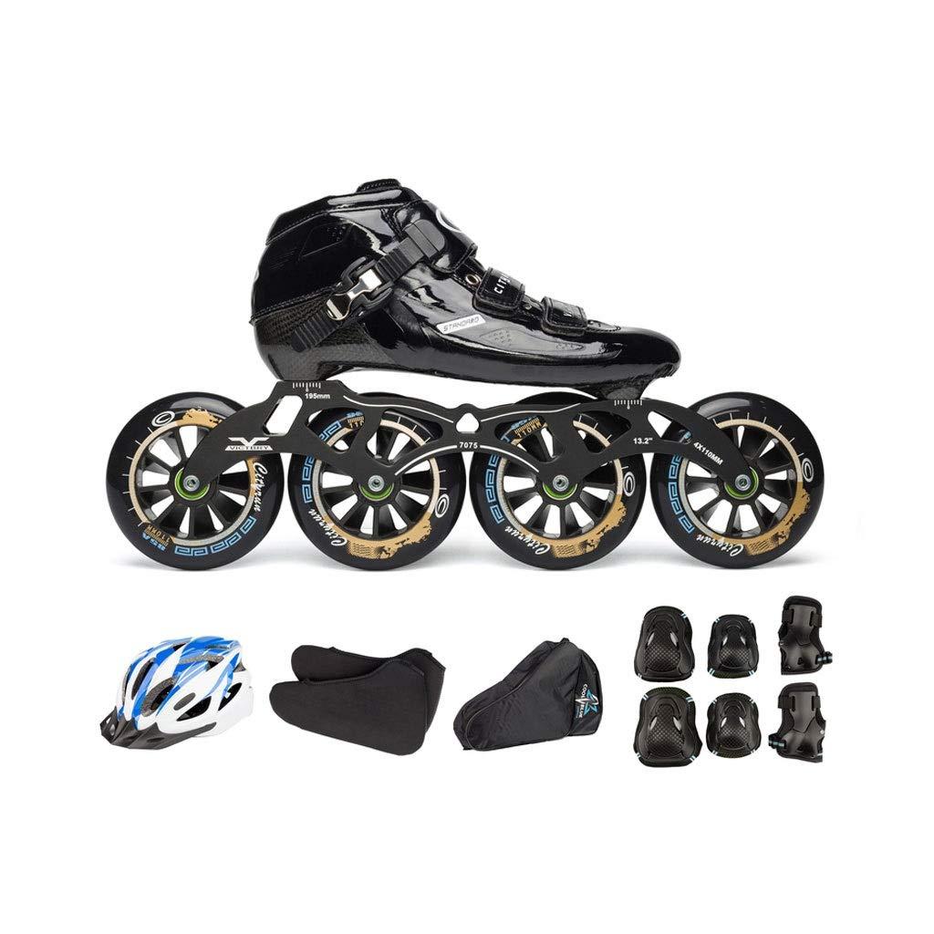 Ailj インラインスケート カーボンファイバースケート 誕生日プレゼント 4X110MMホイール 子供用大人用単列スケート靴 フルセット 3色 色 : B サイズ さいず EU JP UK 6 11 B07QBMMJCJ 45 24cm 大注目 38 5 27.5cm 12 US