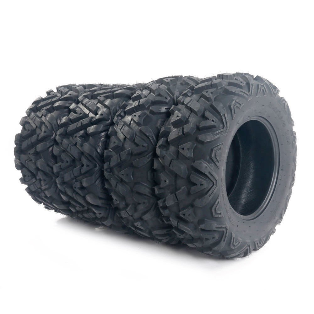 Complete Set of 4 All Terrain ATV/UTV Tires 25'' 25x8-12 Front & 25x10-12 Rear 6PR
