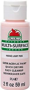 Apple Barrel 44844E Multi Surface Acrylic Paint, 2 oz, Light Pink