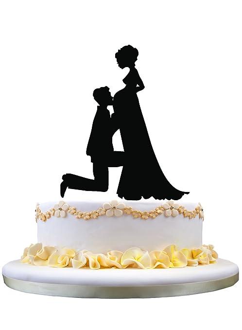 Amazon Com Unique Wedding Cake Topper Pregnant Bride And Groom