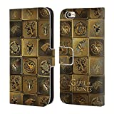 Official HBO Game Of Thrones All Houses Golden Sigils Leather Book Wallet Case Cover For Apple iPhone 6 / 6s
