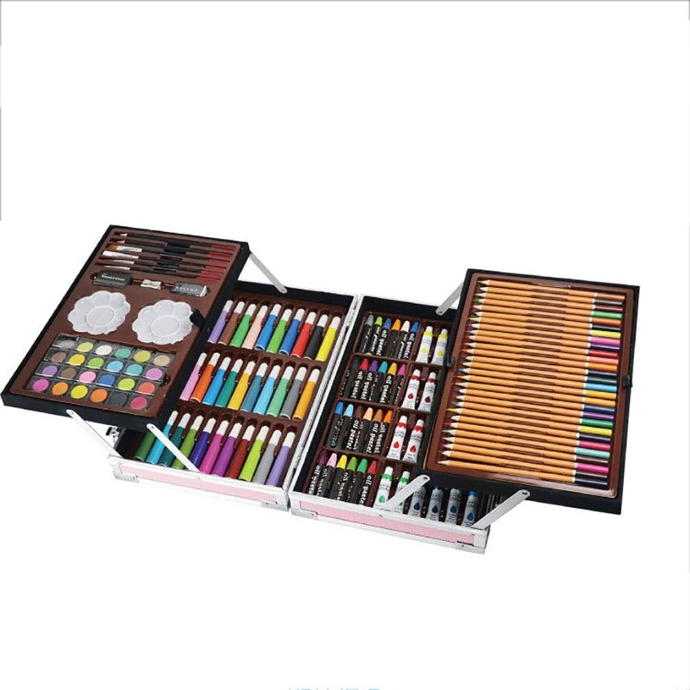 Kanqingqing Deluxe Mega Wood Box Art Drawing Set di Disegni Che Contiene Tutti i Materiali di consumo aggiuntivi Che inizi. (Colore   rosa, Dimensione   Free Dimensione)