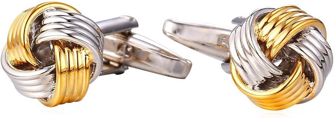 groomsmen groomsmen cufflinks gift for groom best man cufflinks set mens cufflinks Gold Knot Cufflinks novelty cufflinks